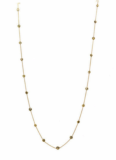 Yellow Diamonds Necklace in 18k Yellow Gold