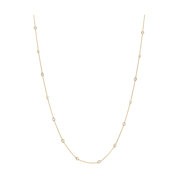 Diamond by the Yard Necklace in 18K Gold