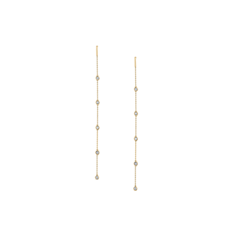 Diamond by the yard Earrings In 18K Yellow Gold