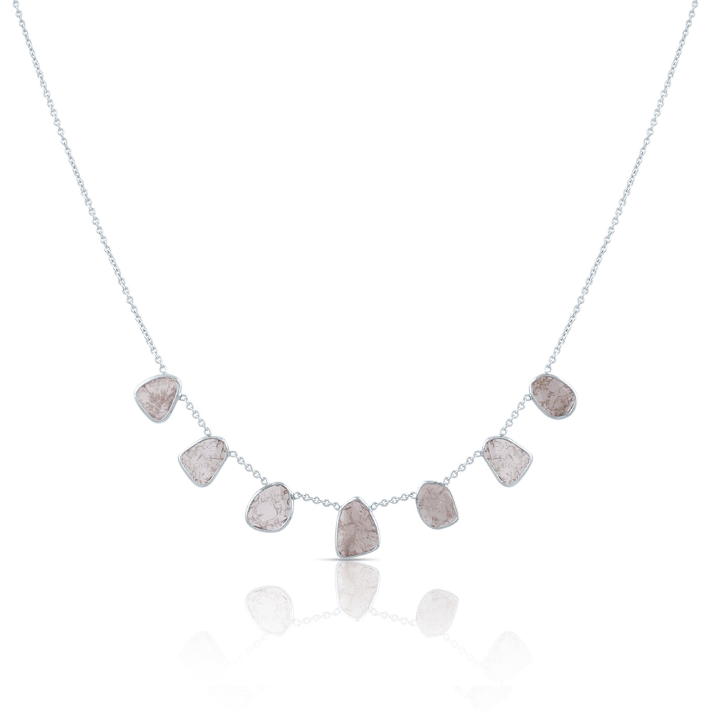 Diamond Slices Necklace in 18k WG