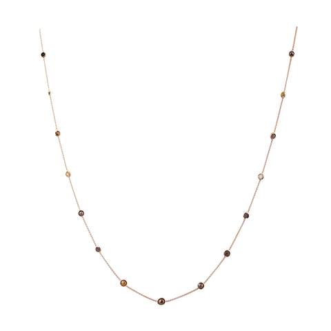 Organic Color Diamond Necklace in 18K Gold