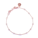 Diamond by the Yard Anklet in 18K Gold