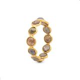 Organic Diamond Stacking Ring in 18k Yellow Gold