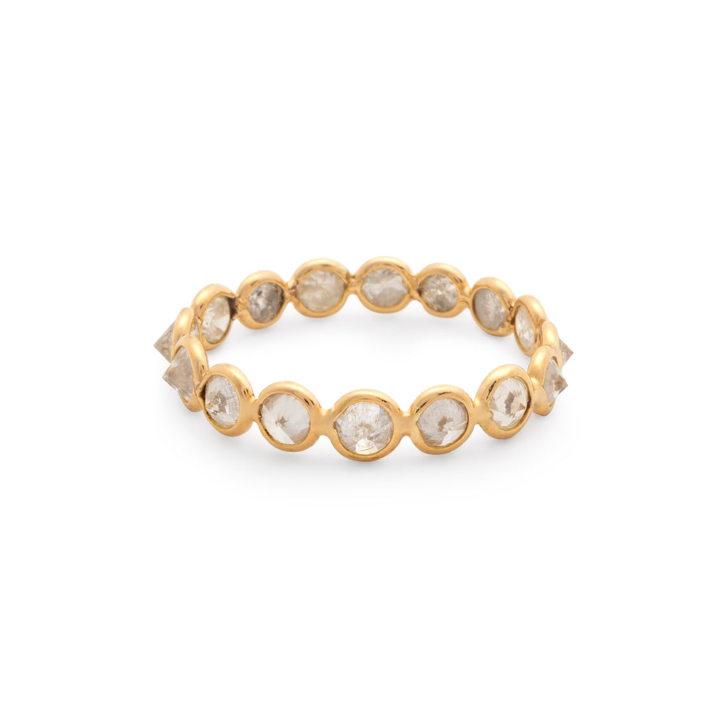 Organic Diamond Ring in 18k Yellow Gold