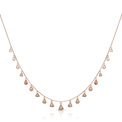 Diamond Slices Necklace in 18k Yellow Gold