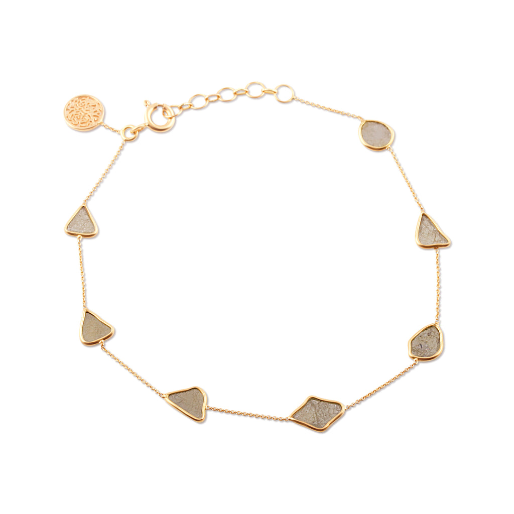 Diamond Slices Bracelet in 18k Yellow Gold