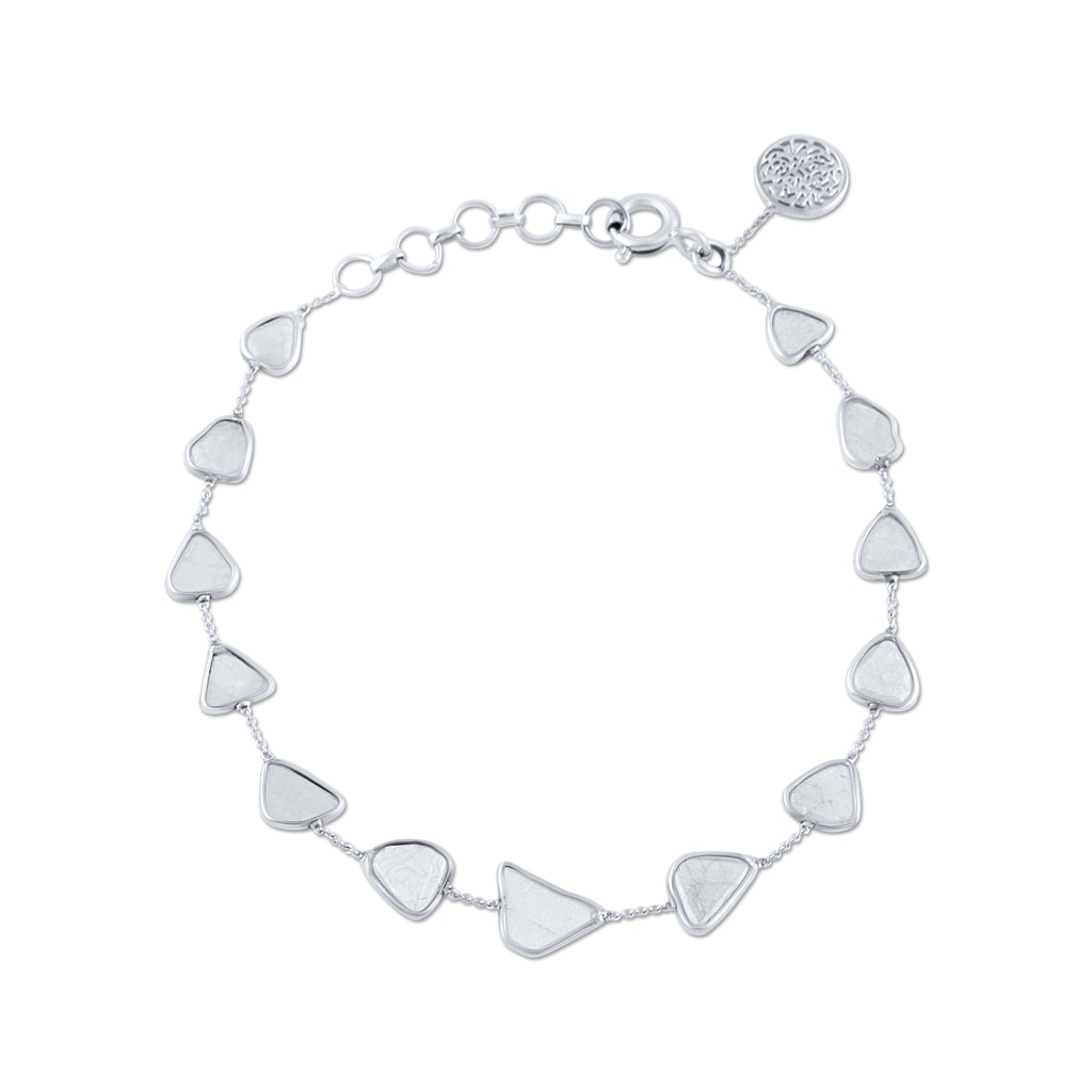 Diamond Slices Bracelet in 18k White Gold