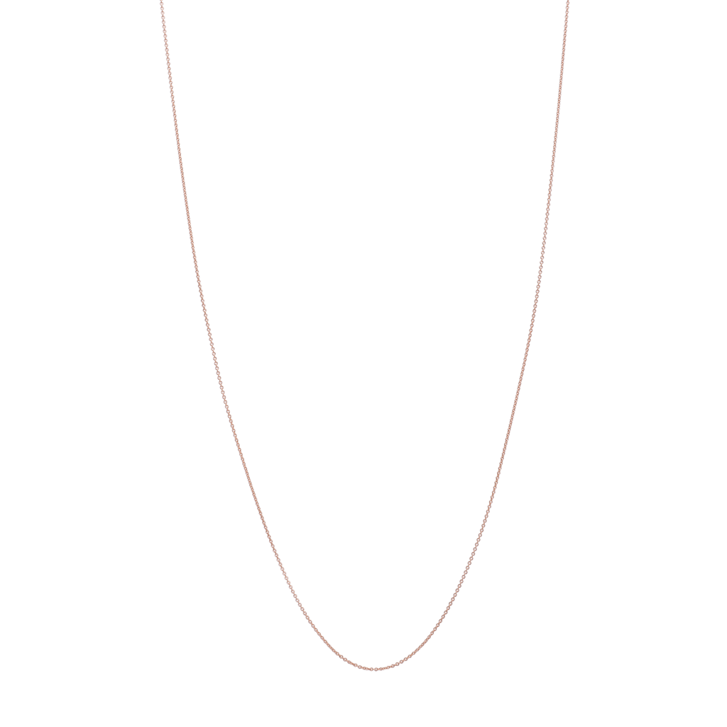 18k gold thin cable chain