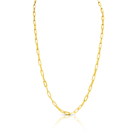Paper Clip Chain In 18K Yellow Gold