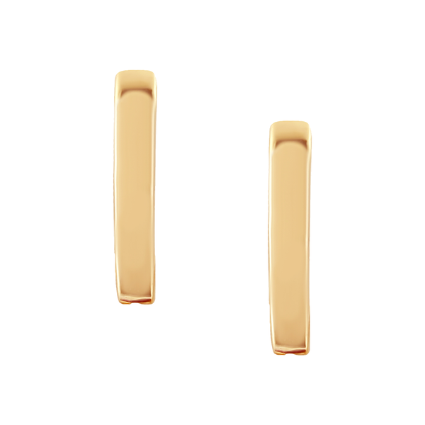 Plain Gold Huggies in 18K Gold