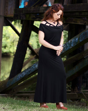 long black minimalist dress