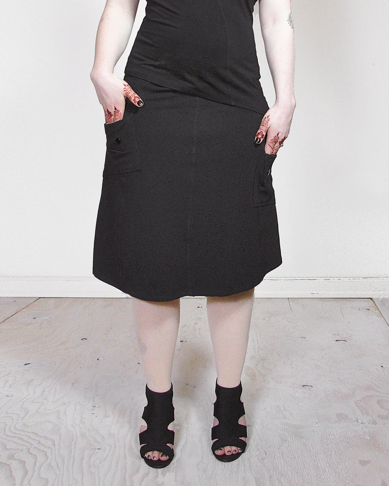 Pockets Askew Skirt