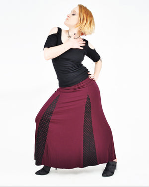 Lancette Skirt - Eco Friendly Bamboo - Dark Rose