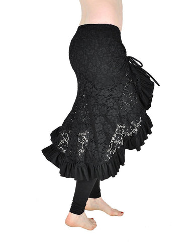 Milonga Skirt - Black Lace