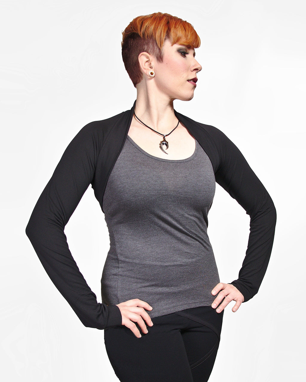 Bamboo Shrug - Black