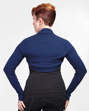 Bamboo Shrug - Navy Blue