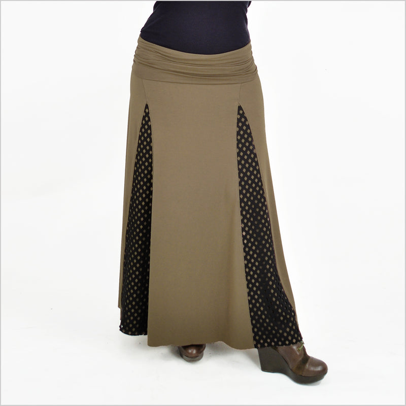 Lancette Skirt - Eco Friendly Bamboo - Military Green