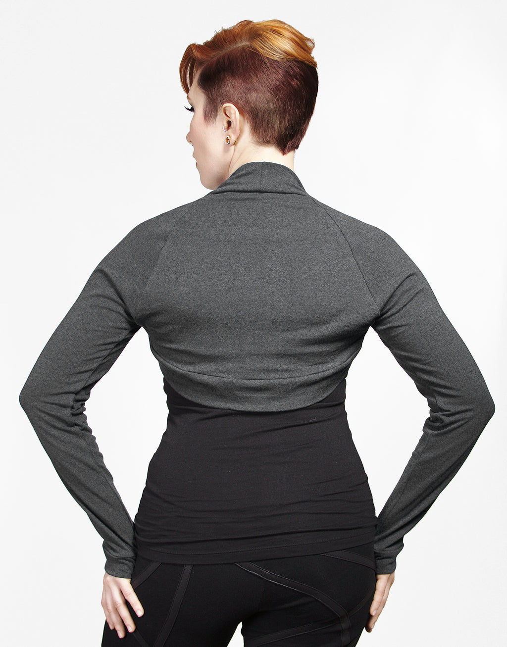 Bamboo Shrug - Gray