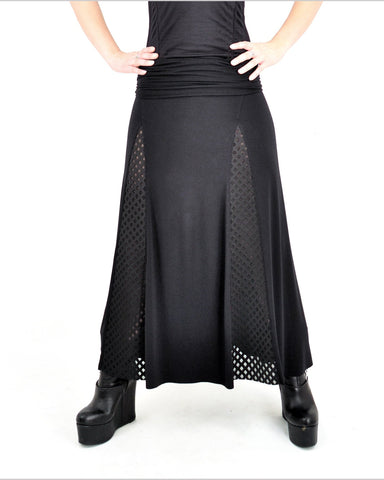 Lancette Skirt - Eco Friendly Bamboo - Black