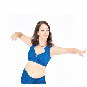 Madeline Top - Ocean Blue Sparkle