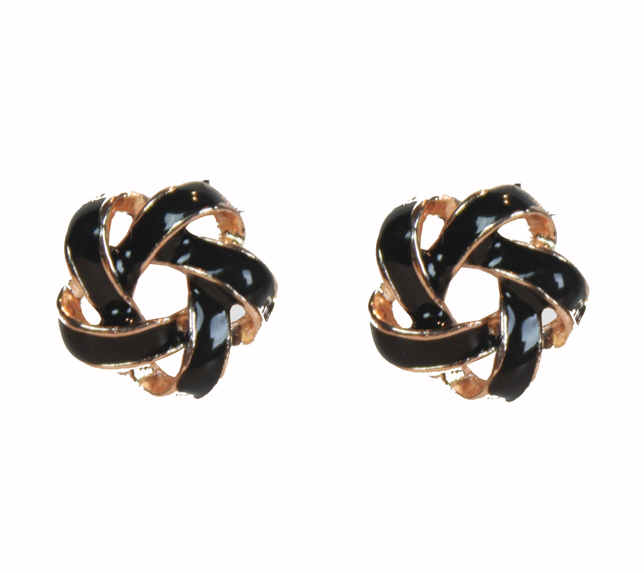 Cella Black Earrings