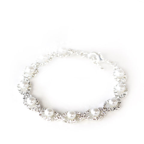 Clara Silver and Pearl Bracelet