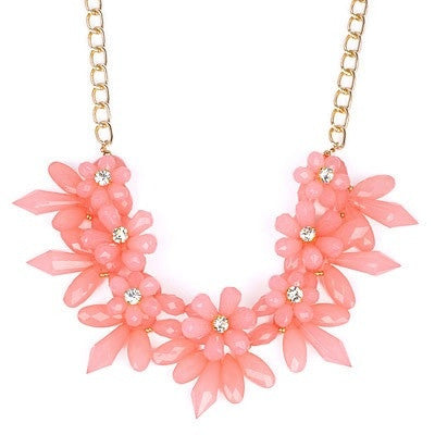Pink Blossom Flower Fashion Necklace - Micha Store  - 1