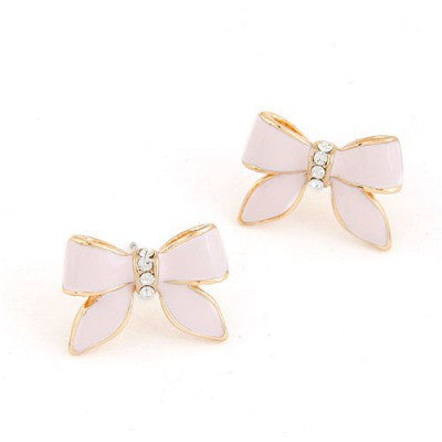 Jenny Pink Bow Earrings