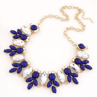 Iris Navy Fashion Necklace - Micha Store  - 1