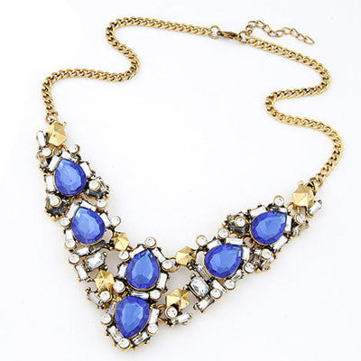 Gladys Blue Fashion Necklace - Micha Store  - 1