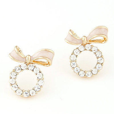 Natalie Pink Bow Earrings - Micha Store