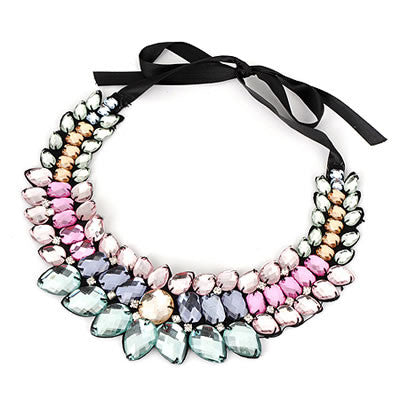 Lilith Colorful Pastel Statement Necklace - Micha Store  - 1