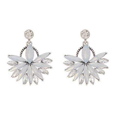 Gwen White Resort Earrings