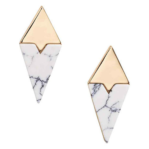 Rynn Geometric Marble Earrings
