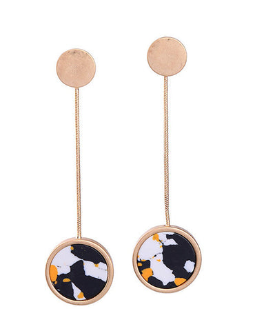 Sephia Rusty Gold Dangling Earrings