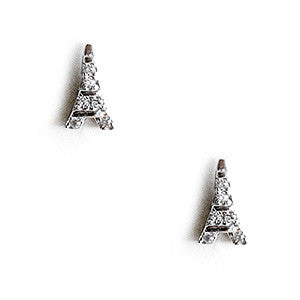 Eiffel Silver Charm Earrings