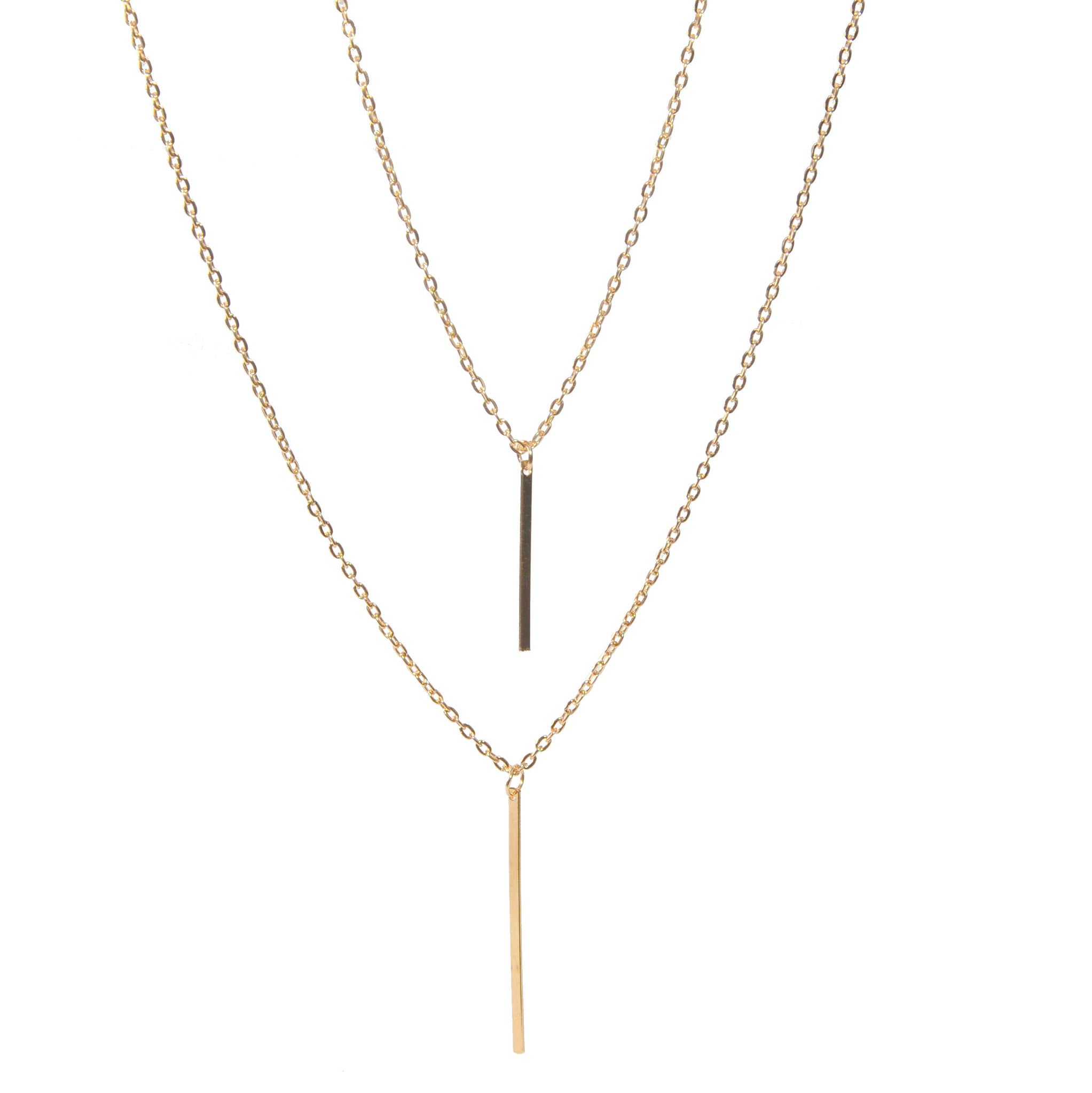 Isella Double Chained Gold Necklace