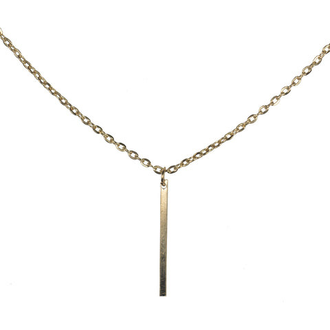 Auriel Gold Bar Necklace
