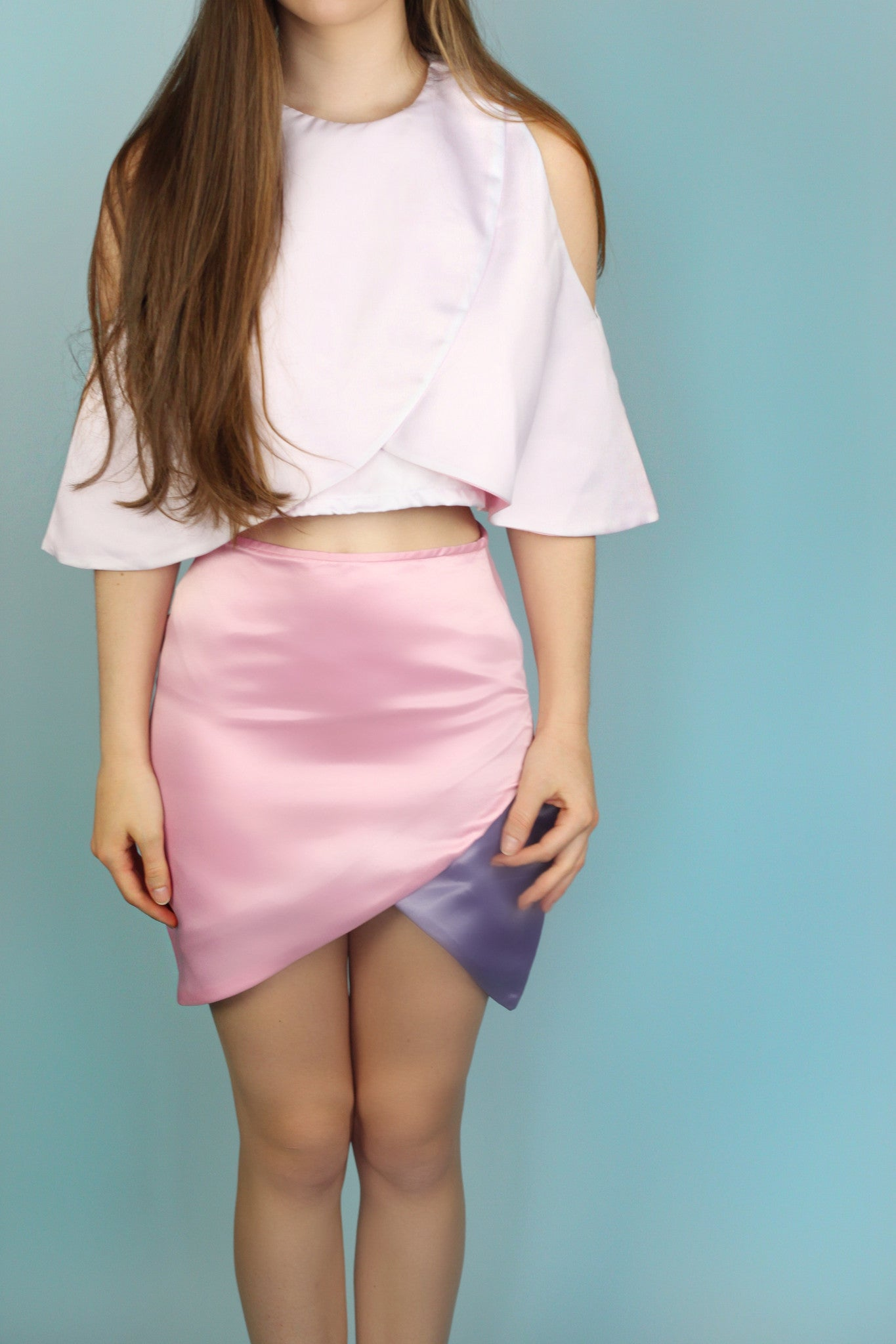 Cassidy Pink and Purple Pencil Skirt
