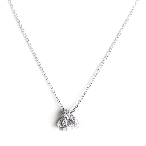 Aubrey Silver Charm Necklace