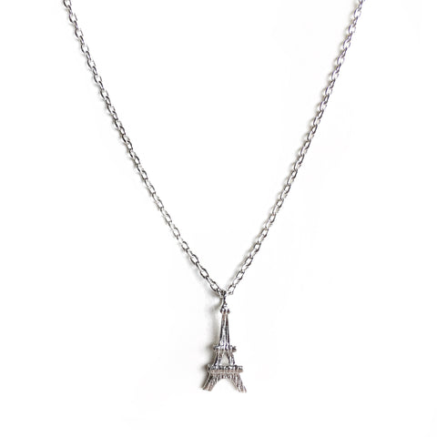 Eiffel Silver Charm Necklace