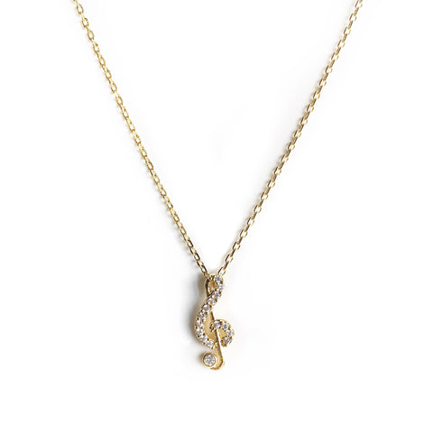 Legato Gold Melody Charm Necklace