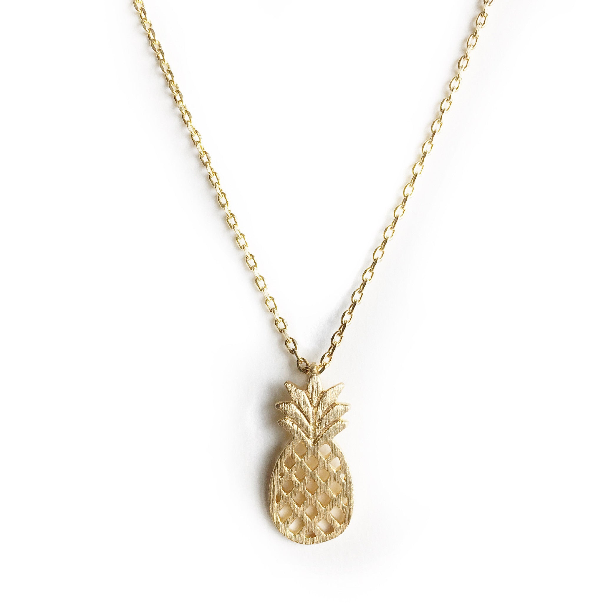 Pina Gold Pineapple Charm Necklace