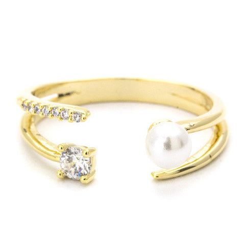 Crystal Gold Rings