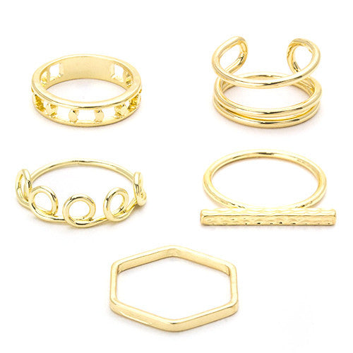 Kelly Gold Ring Set