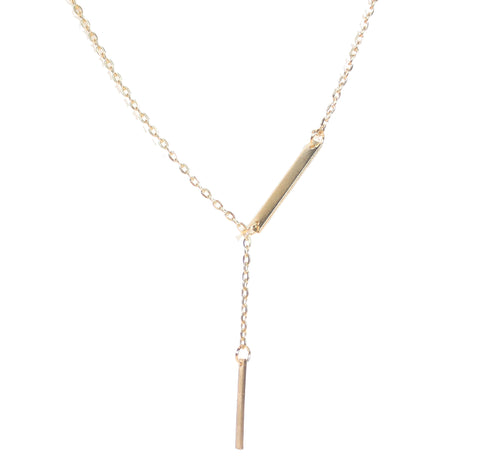Aida Double Bar Gold Necklace