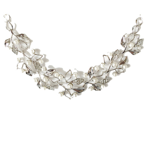 Rosemary Pearl Silver Necklace - Micha Store  - 1