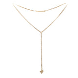 Savvy Gold Long Statement Necklace - Micha Store  - 1
