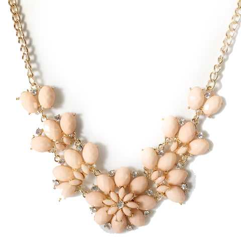 Lucille Pastel Pink Flower Necklace - Micha Store  - 1