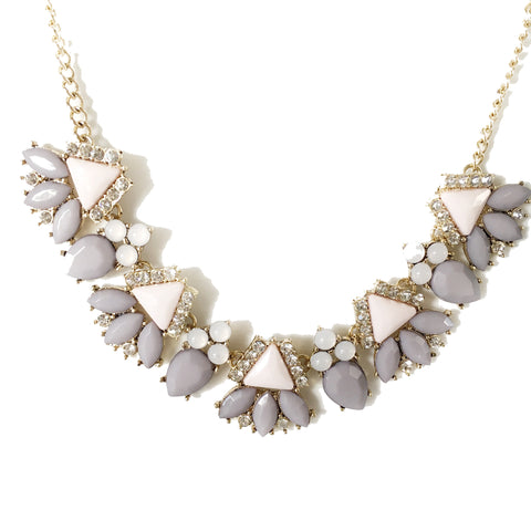 Sylvia Grey/Pink Pastel Necklace - Micha Store  - 1
